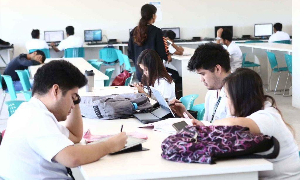 International students in UV Gullas college of Medicine classrooms