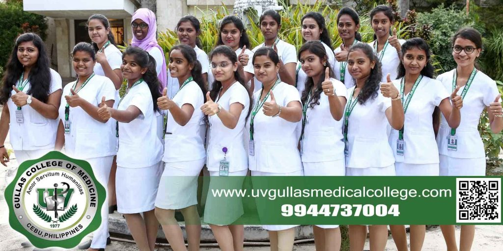 Indian students in their uniform from UV Gullas College of Medicine