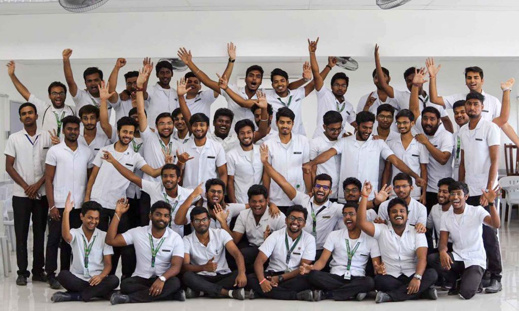 Indian students assembled for event in UV Gullas College of Medicine