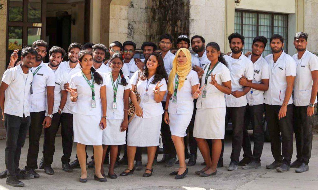 International students in regular college uniform in Gullas College of Medicine