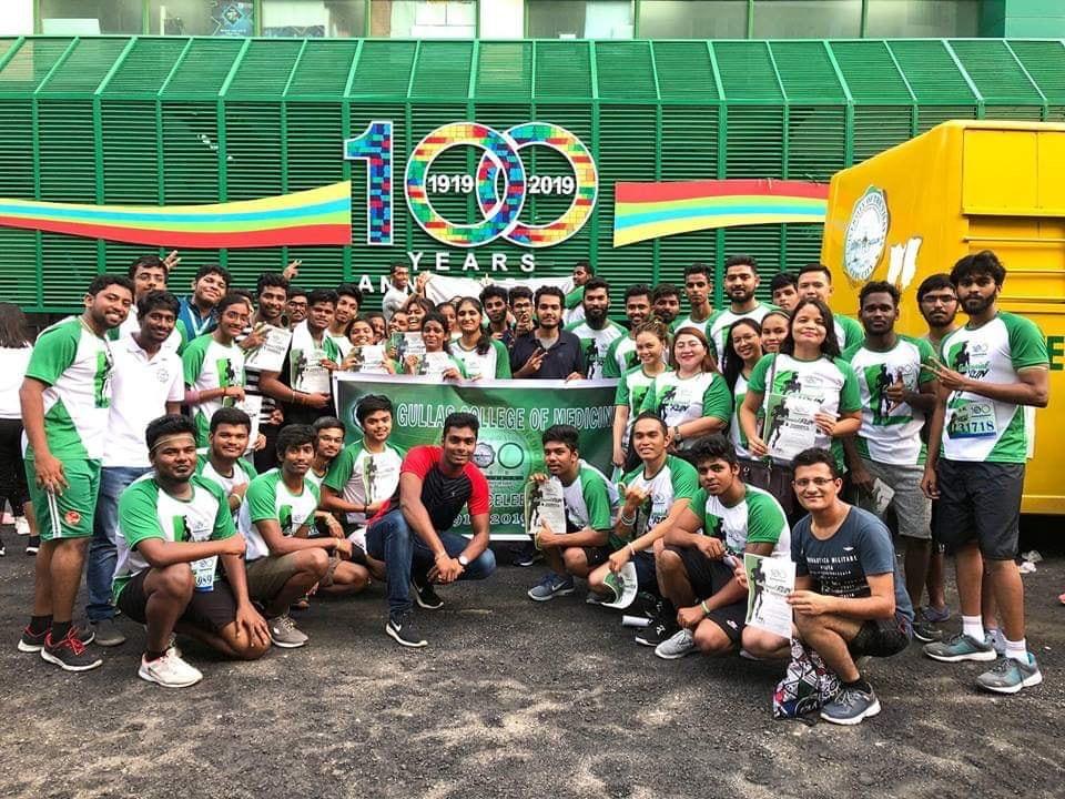 Indian students celebrating 100 years ceremony in cebu city