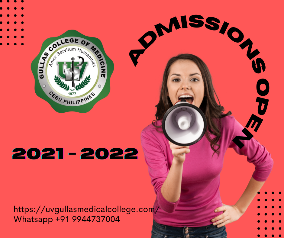 UV Gullas College of Medicine admissions open for A.Y 2021 - 2022.